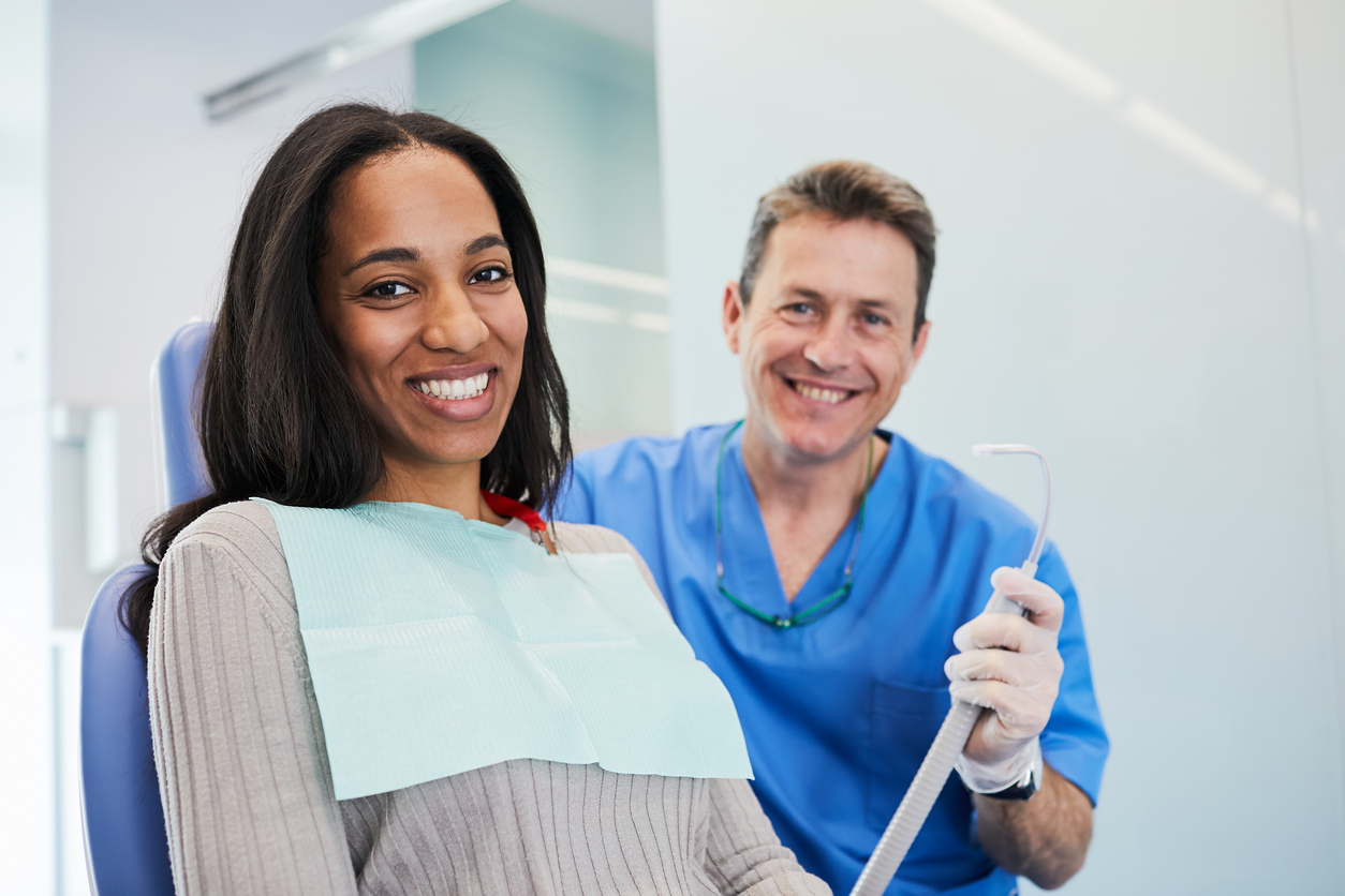 Dentist doctor and medical concepts in Barcelona.
